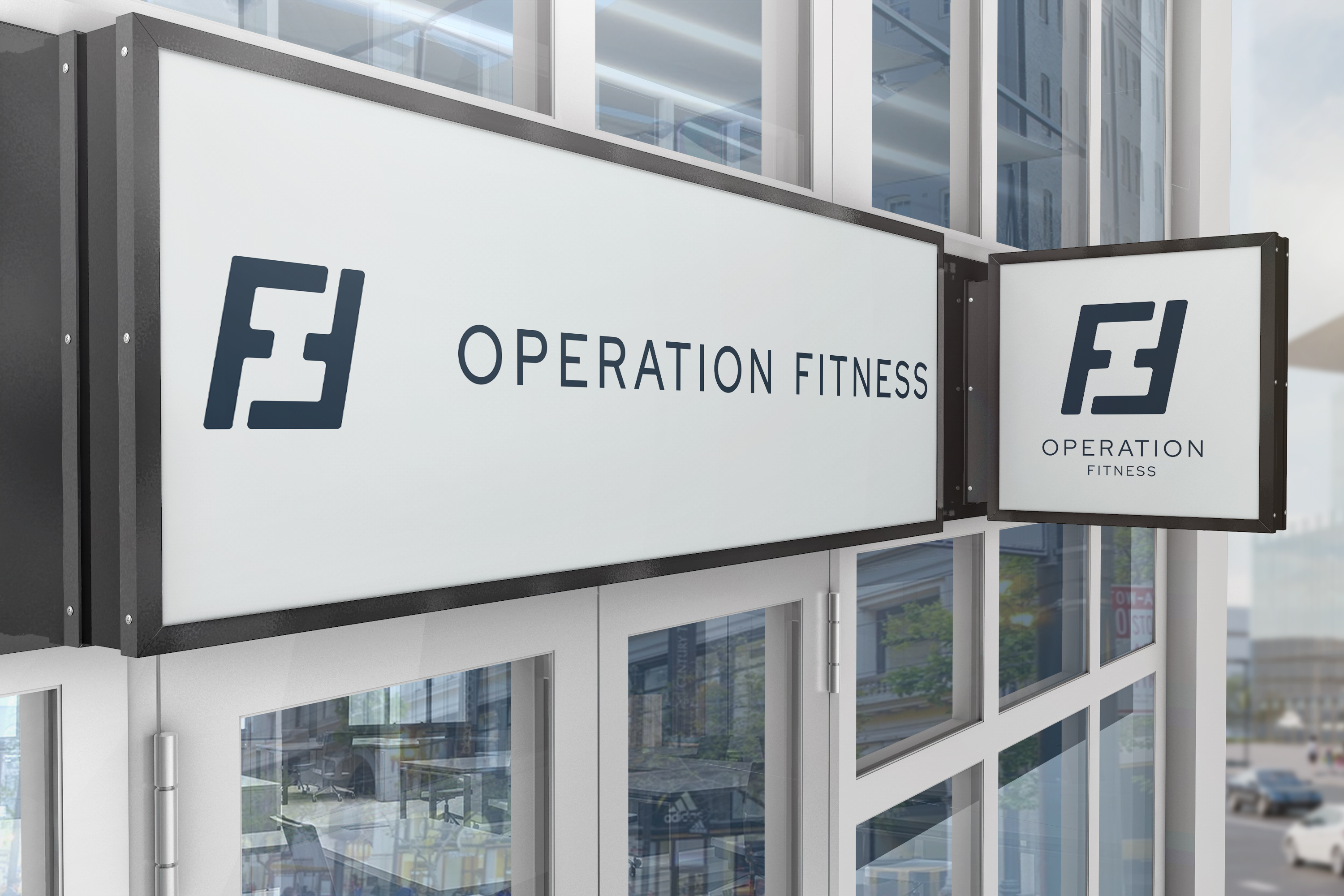 The Operation Fitness sign